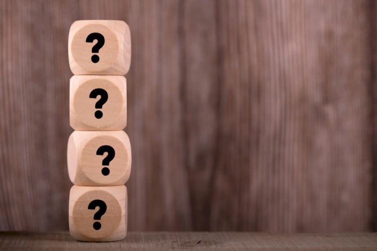 Question Mark Wood Blocks Stock Image