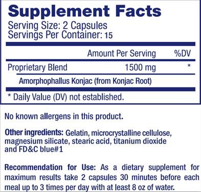 Lipozene Supplement Facts