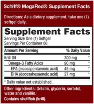 Mega Red Supp Facts