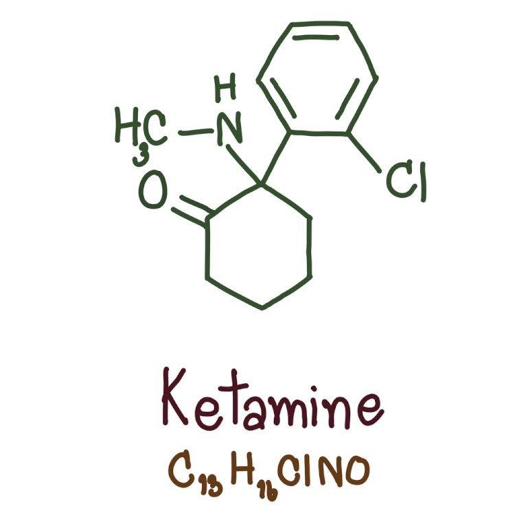 HandDrawn ketamine structure