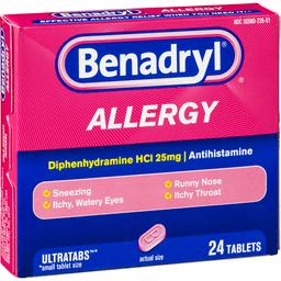 Benadryl (Diphenhydramine) With Vitamin C Interaction