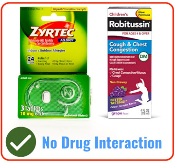 Zyrtec With Children's Robitussin DM