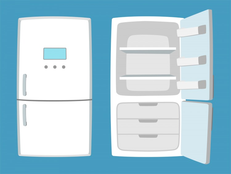 Open And Closed Illustration Of Refrigerator