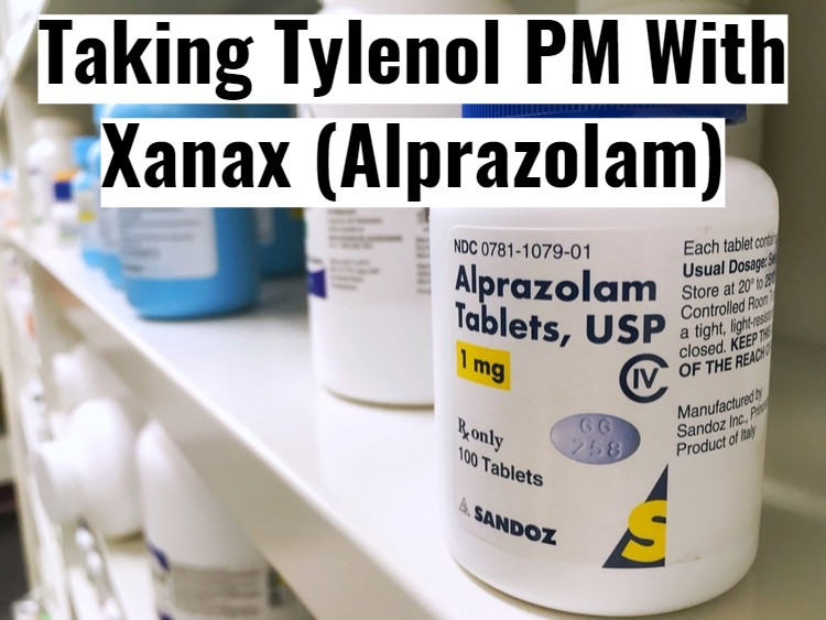 Sandoz Alprazolam Bottle With Text - Taking With Tylenol PM