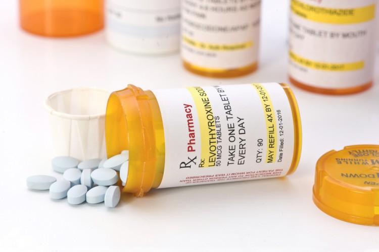 Levothyroxine Bottle Spilling Pills