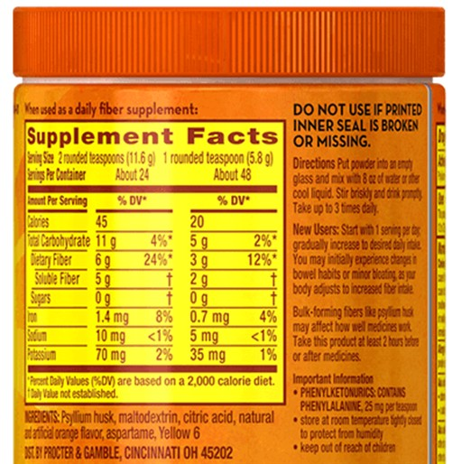 Metamucil Allergic Reaction Ingredients
