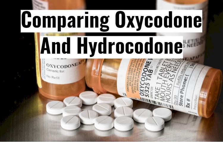 Prescription Oxycodone Vials With Text - Comparing to Hydrocodone
