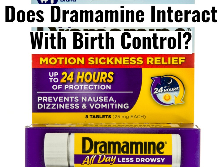 Dramamine Package With Text - Interact With Birth Control