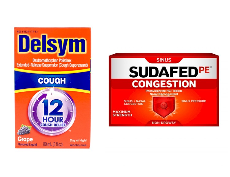 Delsym And Sudafed PE Side By Side