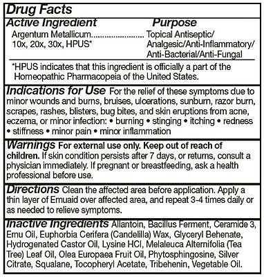 Emuaid Drug Facts