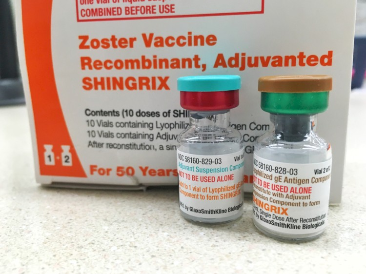 Shingrix Packaging With Both Vials