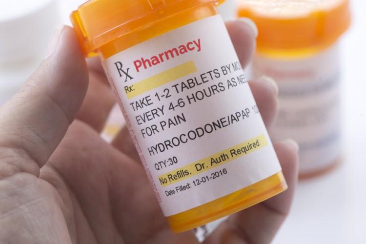 Hydrocodone Prescription Bottles Stock Image